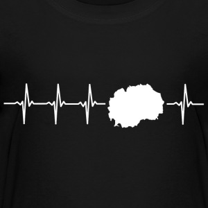 Ik hou van Macedonië (Macedonië heartbeat) - Teenager Premium T-shirt