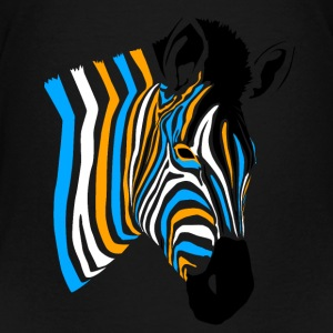 Multicolor Zebra - Teenager Premium T-Shirt