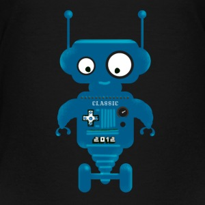 Robot cute small toy AI auto lo - Teenage Premium T-Shirt