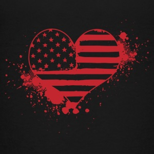 USA Coeur! Etats-Unis! Patriot! Amérique! - T-shirt Premium Ado