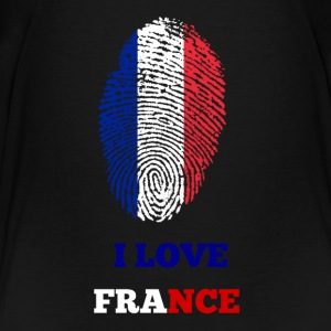 I LOVE FRANCE FINGERABDRUCK - Teenager Premium T-Shirt