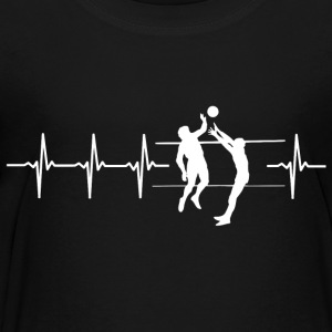 I love volleyball (volleyball heartbeat) - Teenage Premium T-Shirt
