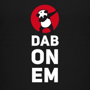 dab on em dabbing panda football touchdown mooving - Teenager Premium T-Shirt
