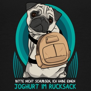 Pug / mops with backpack - Teenage Premium T-Shirt