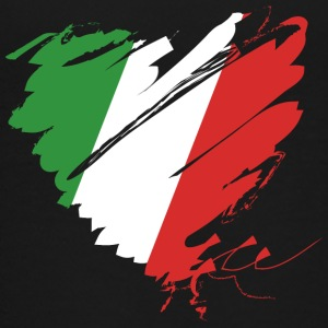 Heart Cuore Italy Italy Calcio Italiano Football - Teenage Premium T-Shirt