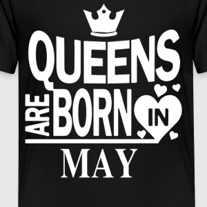 Birthday Shirt - Queens are born in MAY - Teenage Premium T-Shirt