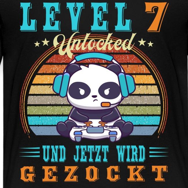 Gamer Geburtstag Level Up 7 Jahre Jungen