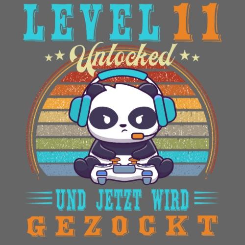 Gaming Geburtstag Level 11 Jahre Geburtstagsshirt - Teenager Premium T-Shirt