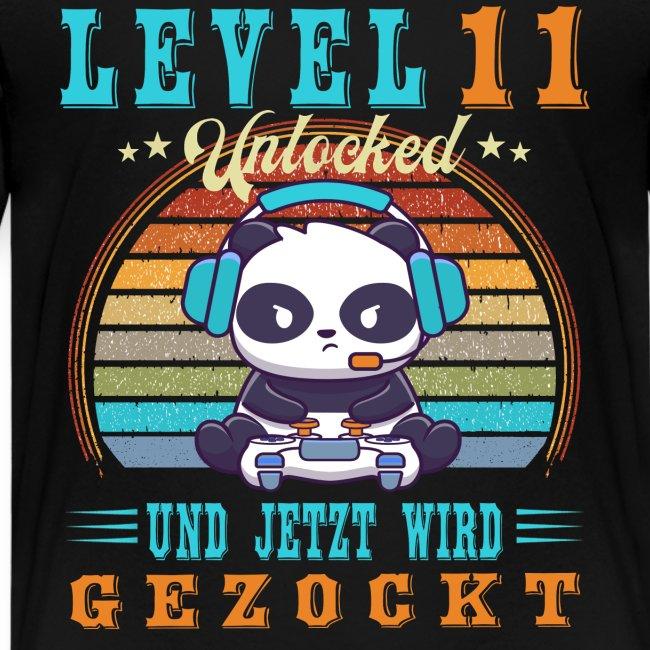 Gaming Geburtstag Level 11 Jahre Geburtstagsshirt