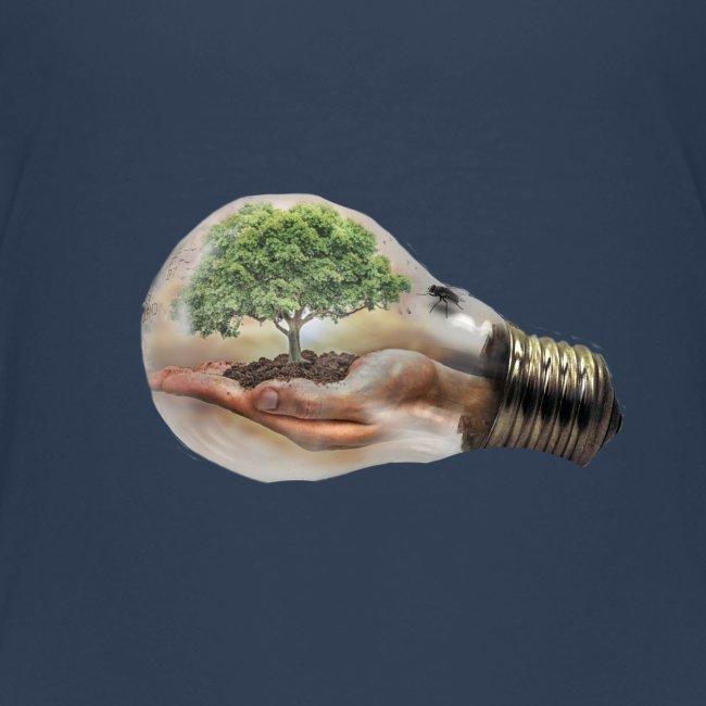 Baum und fliege in einer Glühbirne Geschenkidee