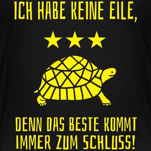 Beste zum Schluss Langsam Laufen Schildkröte - Teenager Premium T-Shirt