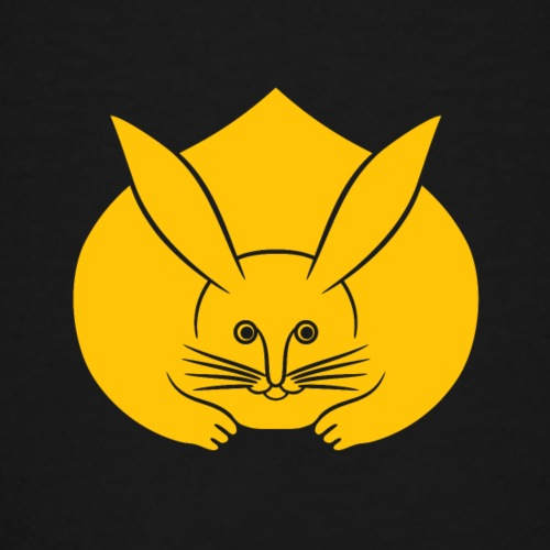 Usagi kamon japanese rabbit yellow - Teenage Premium T-Shirt