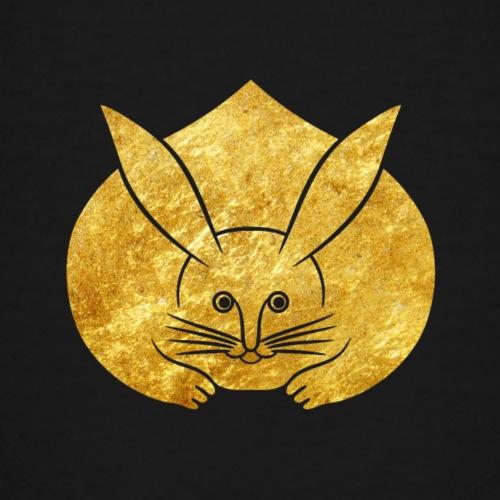 Usagi kamon japanese rabbit gold - Teenage Premium T-Shirt