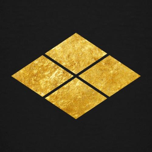 Takeda kamon Japanese samurai clan faux gold - Teenage Premium T-Shirt