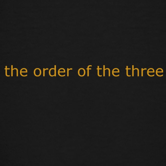 the order of the three 1st shirt