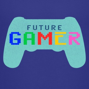 Blue Future Gamer Design by JuiceMan Benji Gaming - Teenage Premium T-Shirt
