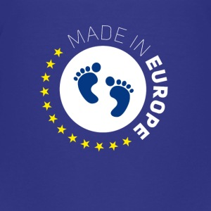 made birth foot in Europe EU Lovebaby stars EUR - Teenage Premium T-Shirt