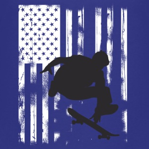 Skate jump us flag skateboard halfpipe olli long - Teenage Premium T-Shirt