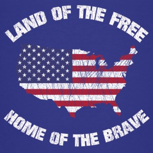 USA AMERICA FREE AND BRAVE SHIRT - Teenager Premium T-Shirt