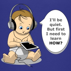 baby with headphones - Teenage Premium T-Shirt