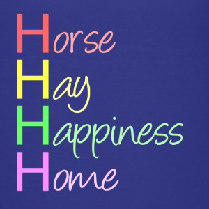 Horse, Hay, Happiness, Home - Teenager Premium T-Shirt