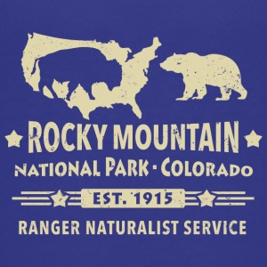 Bison Grizzly Rocky Mountain National Park Mountains - Teenage Premium T-Shirt