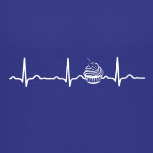 ECG HEARTBEAT CUPCAKE - Teenage Premium T-Shirt