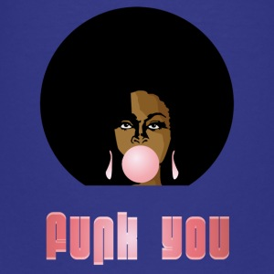 Funk You 70s Retro Bubblegum Afro Queen - Premium T-skjorte for tenåringer