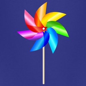 colorful windmill children's toys rainbow Summer - Teenage Premium T-Shirt