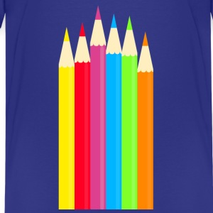 colored pencils - Teenage Premium T-Shirt