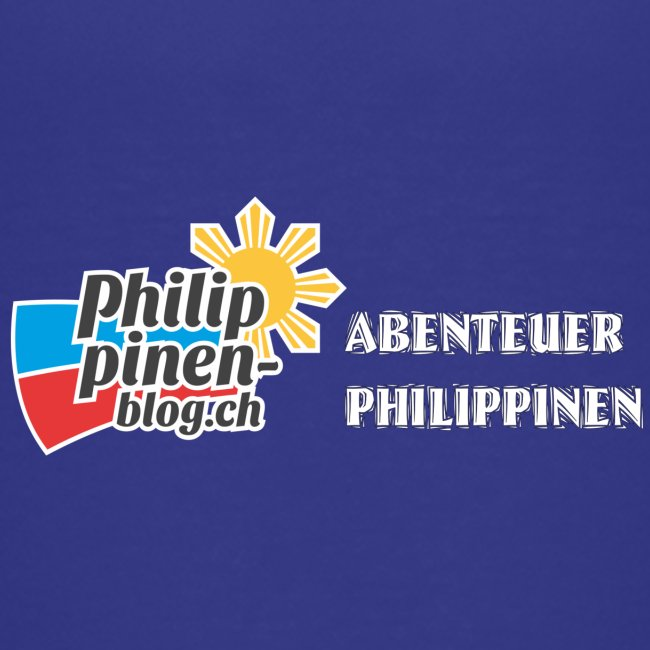 Philippinen-Blog Logo deutsch schwarz/weiss