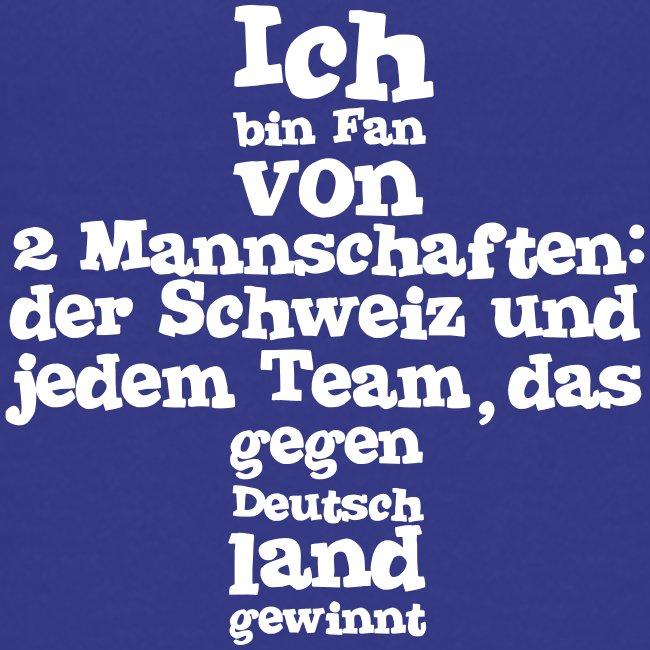 Fan von zwei Mannschaften