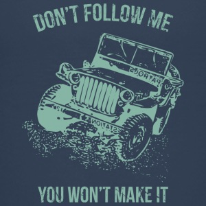 Follow Me Jeep Car - Teenage Premium T-Shirt