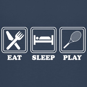 Essen schlafen Tennis spielen- eat sleep Tennis - Teenager Premium T-Shirt
