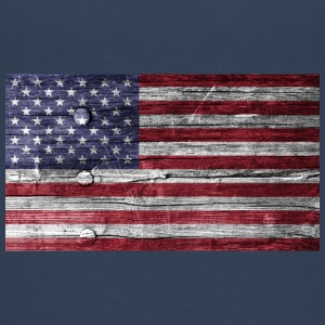 America Flag Wood Look - Premium-T-shirt tonåring