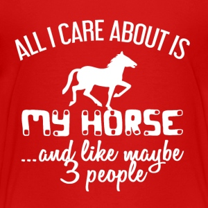I'm interested only my HORSE - Teenage Premium T-Shirt