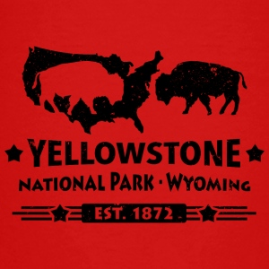 Buffalo Bison Buffalo Yellowstone National Park USA - T-shirt Premium Ado