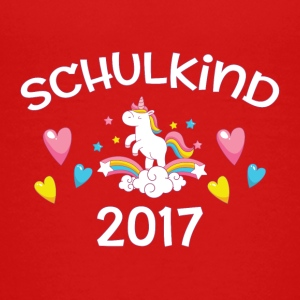 Schulkind 2017 - Einhorn - Teenager Premium T-Shirt