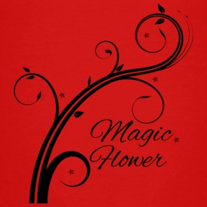 Magic Flower schwarz - Teenager Premium T-Shirt