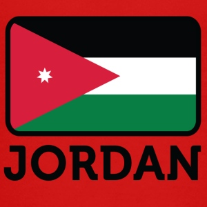 National Flag Of Jordan - Premium T-skjorte for tenåringer