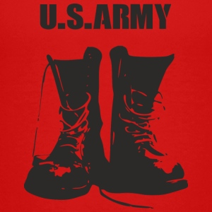 USARMY military boots design - Teenage Premium T-Shirt