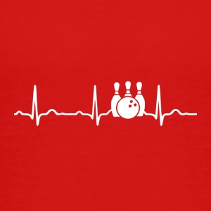 EKG HEARTBEAT BOWLING - Teenager premium T-shirt