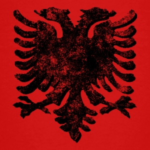 Retro Albanian Eagle - Teenage Premium T-Shirt