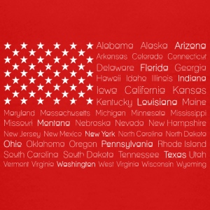 USA 50 States Flag - Teenage Premium T-Shirt