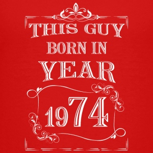 this guy born in year 1974 white - Teenage Premium T-Shirt