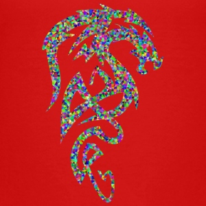 Mosaïque de dragon tribal - T-shirt Premium Ado