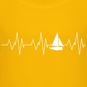 Heartbeat sailing - Teenage Premium T-Shirt