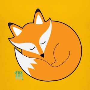 Fox And Tea _ fox sleepyhead - Teenage Premium T-Shirt