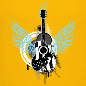 Gitarre guitar Flügel wings Graffiti Musik music - Teenager Premium T-Shirt