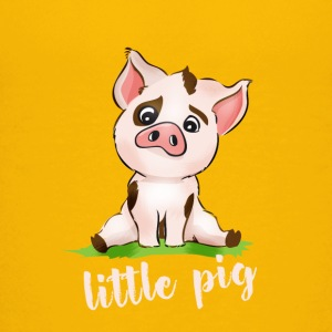 Little Pig pig piglet movie cute comic baby - Teenage Premium T-Shirt